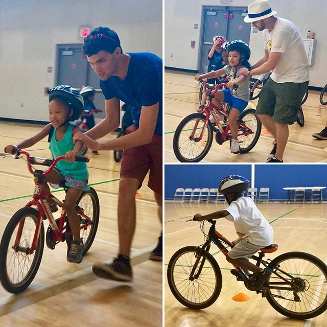 Summer camp kiddos(K-2nd grade) at Southeast Community Center learned to ride bikes this week with Bike/Walk KC. #KCParks #WhereKCPlays