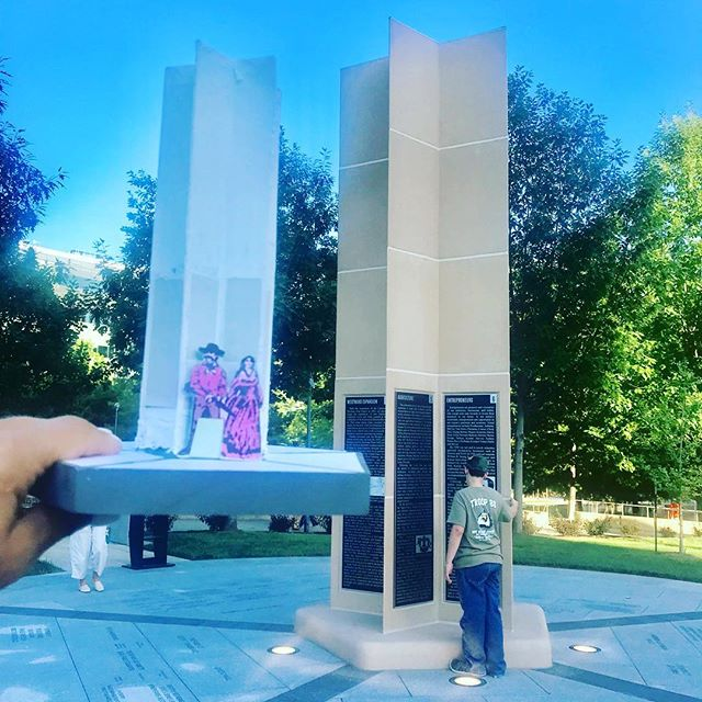 From concept to reality! Gary Hicks, #NSDKC Monument Designer, told about how the  monument was conceptualized and shared his #maquette at tonight's #HistoryAtTheMonument #KCParks