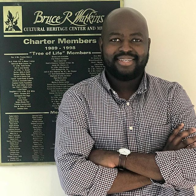 """During Park and Recreation Month we are focusing on our employees by featuring a #PlayerOfTheDay each day of July. #DiscoverJuly #KCParks #WhereKCPlaysChiluba J. Musonda, Center Director-Bruce R. Watkins Cultural Heritage Center, 2 years with KC Parks """"I really enjoy working with individuals from all walks of life and backgrounds. Every interaction with my coworkers/colleagues is a learning experience. Our diversity is our strength and is reflective of the City we serve."""""""