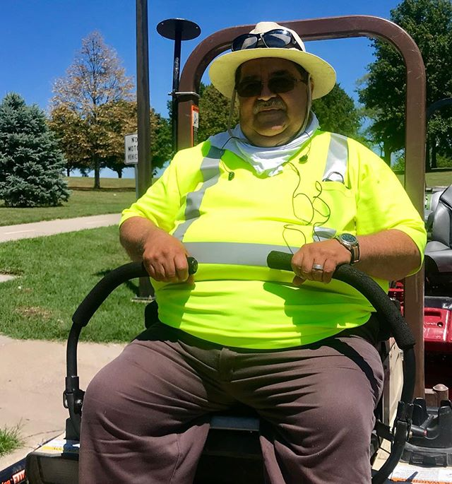 """During Park and Recreation Month we are focusing on our employees by featuring a #PlayerOfTheDay each day of July. #DiscoverJuly #KCParks #WhereKCPlaysEpi Yanez, Equipment Operator-North District, 6 years with KC Parks """"I love my job! I love being part of this team~Parks & Rec. Keeping our parks nice, clean and safe for our people is our top priority."""""""