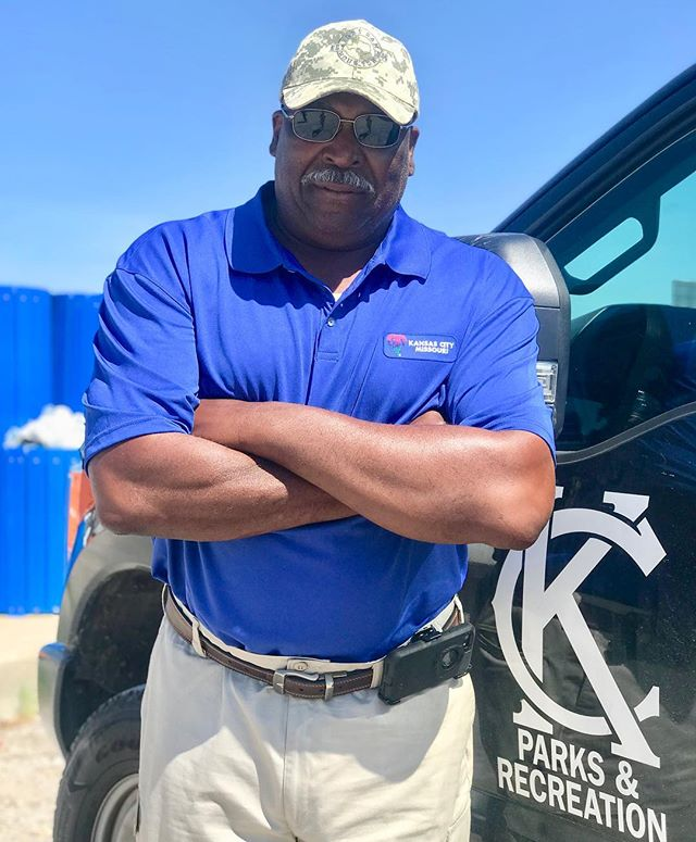 "During Park and Recreation Month we are focusing on our employees by featuring a #PlayerOfTheDay each day of July. #DiscoverJuly #KCParks #WhereKCPlaysRobert Thompson, Landscape Technician-Central District, 25 years with KC Parks ""I really enjoy working with our new employees to train and teach them work skills regarding the various aspects of maintenance from basic irrigation to managing turf."""