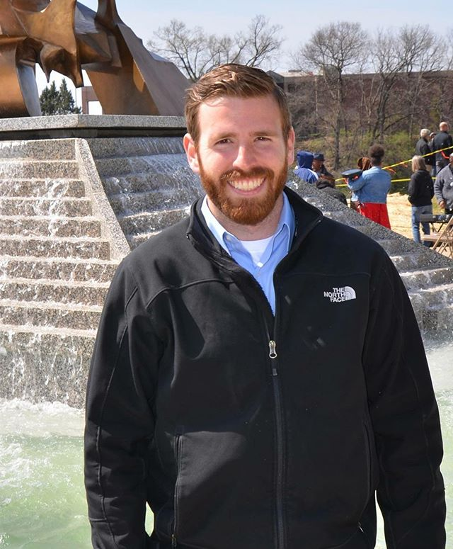 """During Park and Recreation Month we are focusing on our employees by featuring a #PlayerOfTheDay each day of July. #DiscoverJuly #KCParks #WhereKCPlaysJordan Cline, Landscape Architect, 1.5 years with KC Parks """"What I like the most about working for the Parks Department is it gives me the opportunity to design and redevelop spaces for the citizens of Kansas City to enjoy."""""""