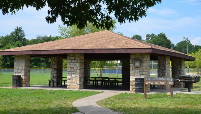 Athletic Field Shelters : Clark ketterman athletic field kansas city parks