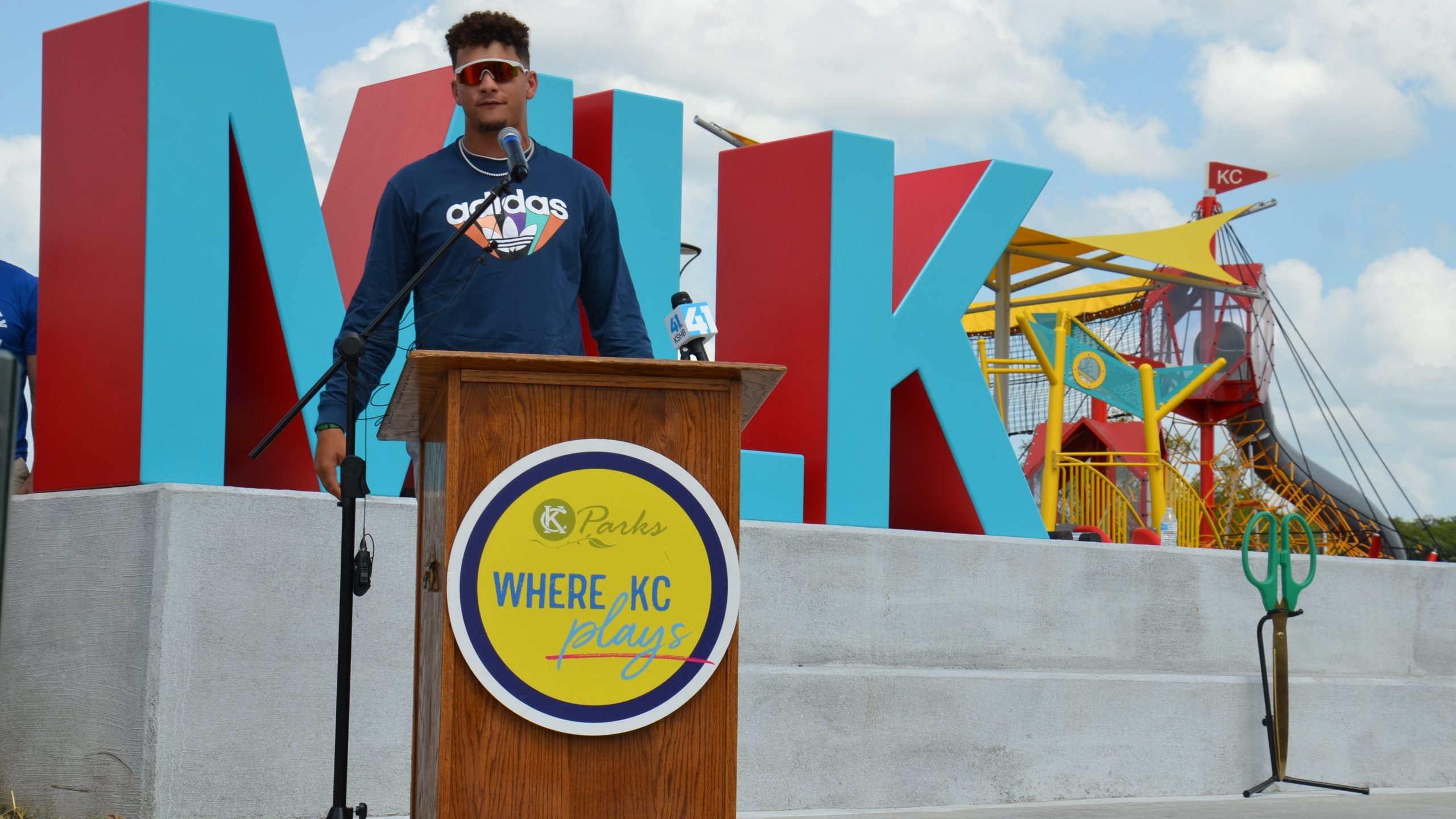 Speech by Patrick Mahomes at Martin Luther King, Jr. Park