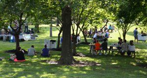 Anita B. Gorman Park view of live music event