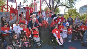Ribbon Cutting ceremony in the Park
