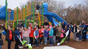 Kids on Slides and Swings