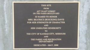 Davis Bea Plaque