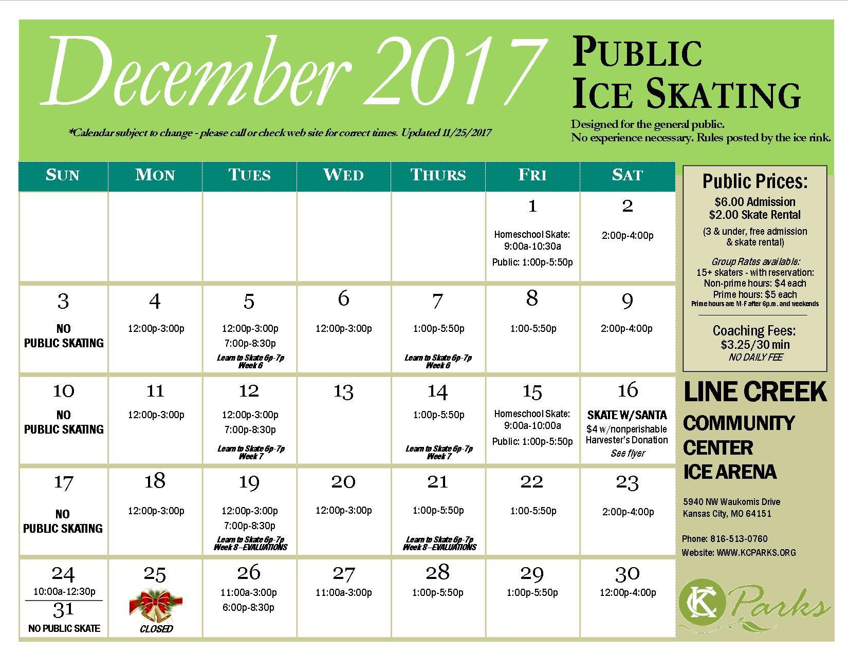 Dec. 2017 PS Calendar