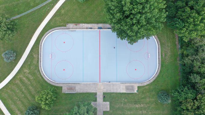 Holmes Park – Rink Repairs – Aerial 1s