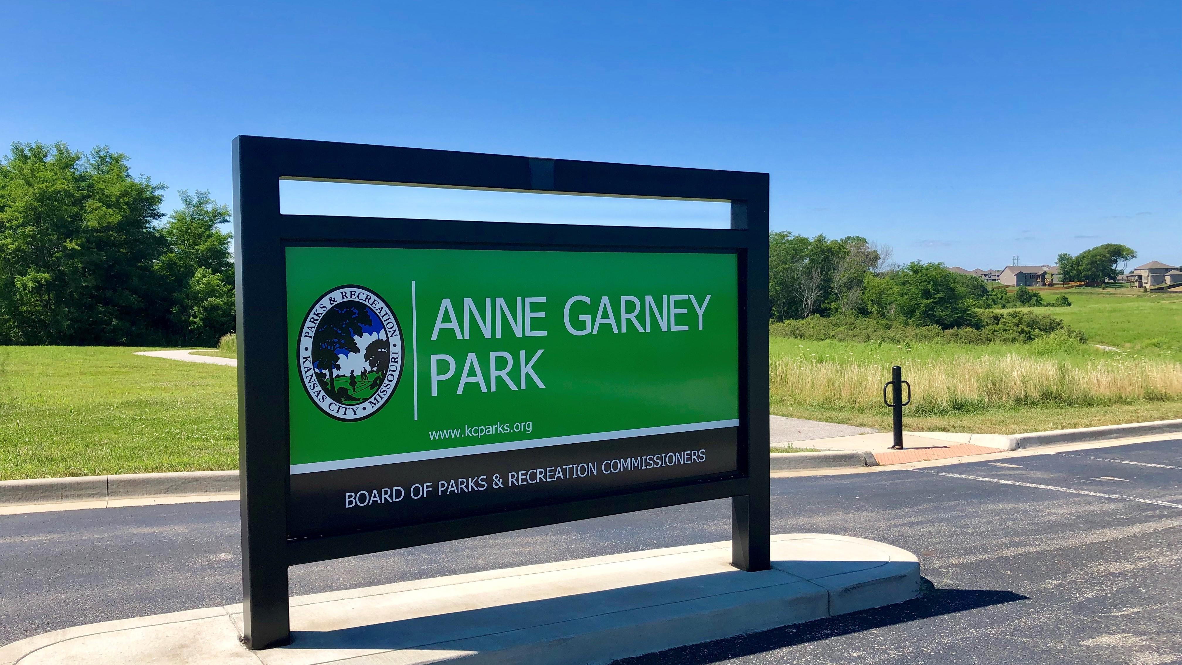 Anne Garney Park Sign