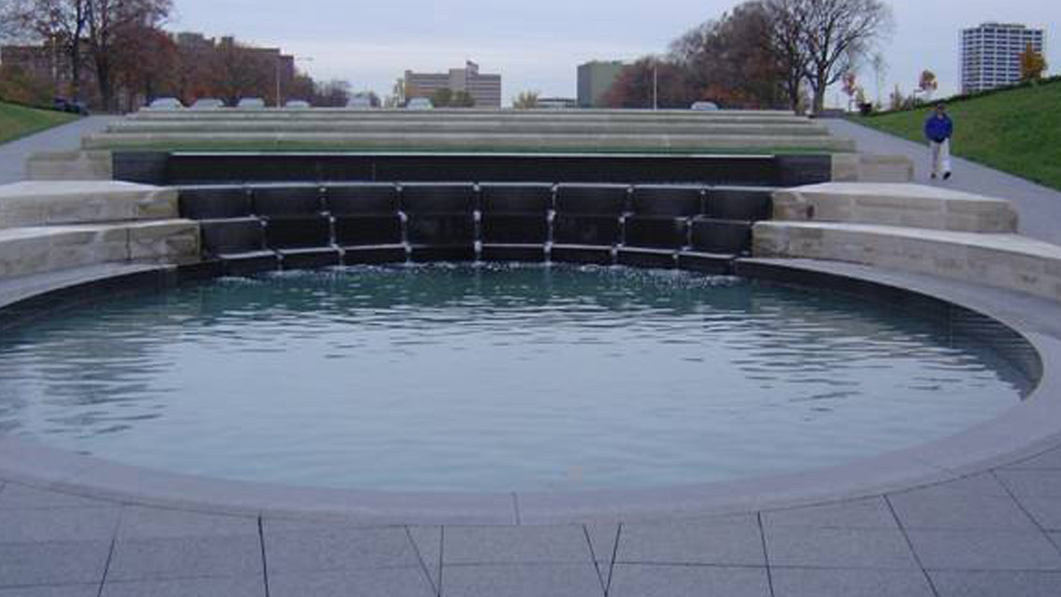 Liberty Memorial Fountain, South
