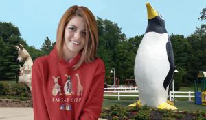 girl in penguin park hoodie
