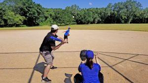 people playing baseball