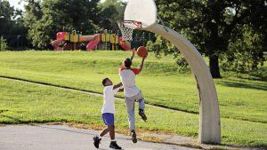 Kids playing Basket ball