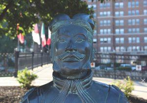 Chinese Warrior Statue Head