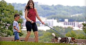 individuals dog walking in KC Parks