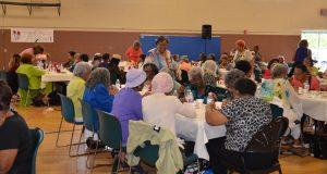 Brush Creek Community Center large lunch gathering