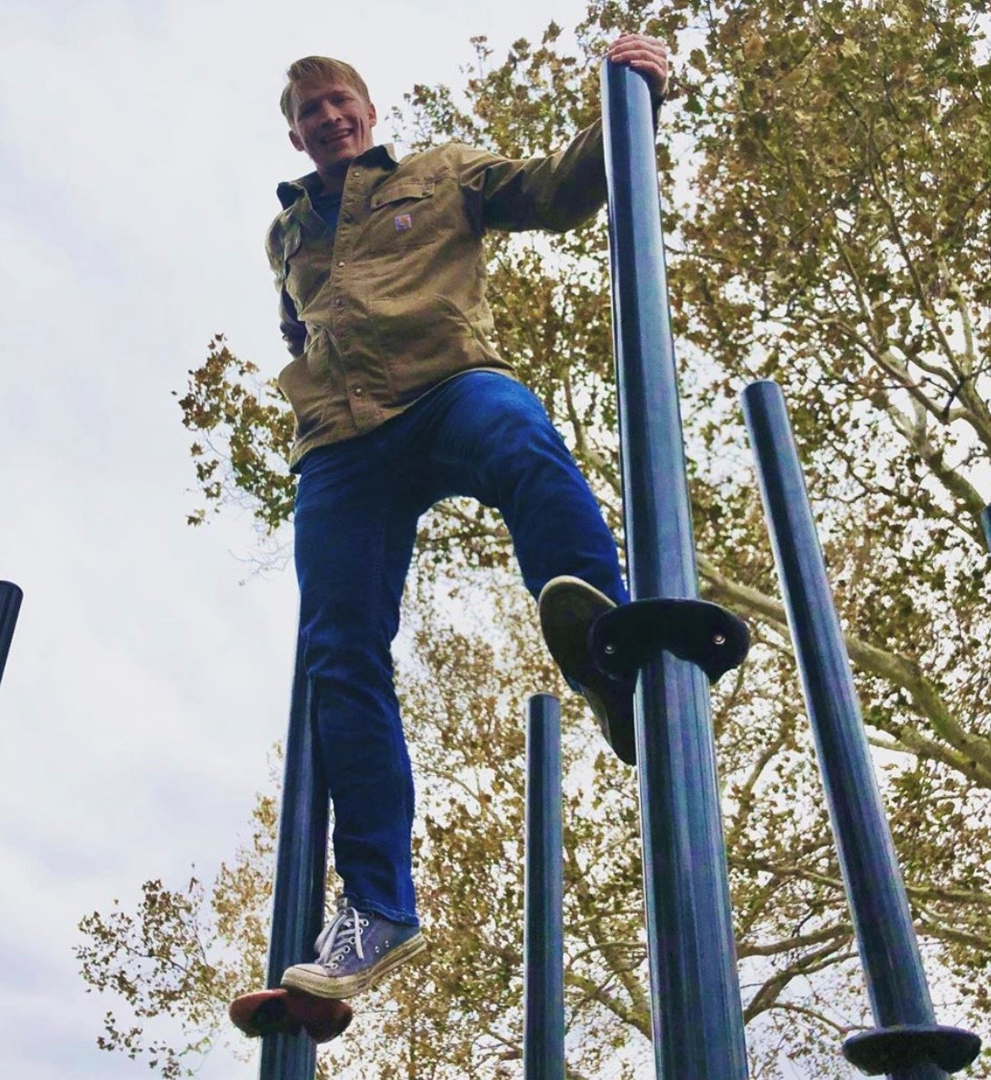 Boy having fun in the park