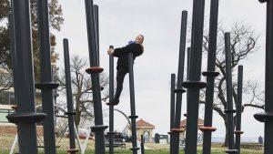 Girl having fun in the park