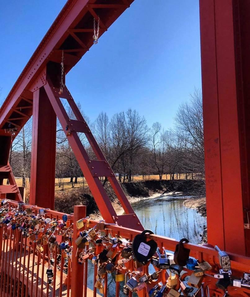 Lock Fence on the bridge