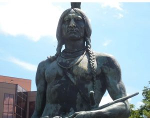 Red Indian Statue