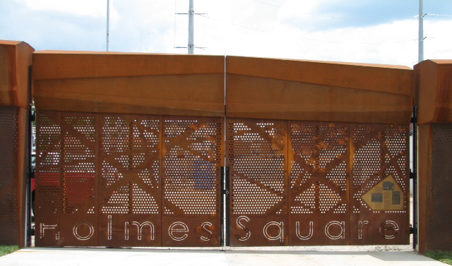 Parks Spotlight: Crosstown Substation Gate at Holmes Square