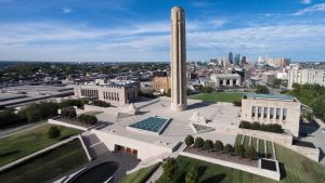 Aerial view of National WWI Museum and Memorial