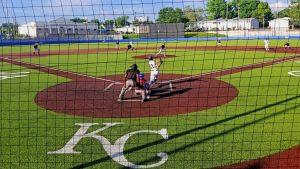 Playing baseball in KC
