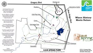 Cave spring Park Map