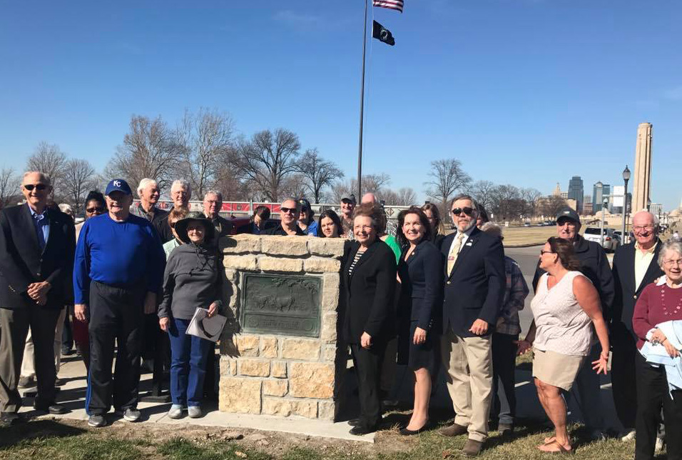 Santa Fe Trail Marker Unveiled in Penn Valley Park