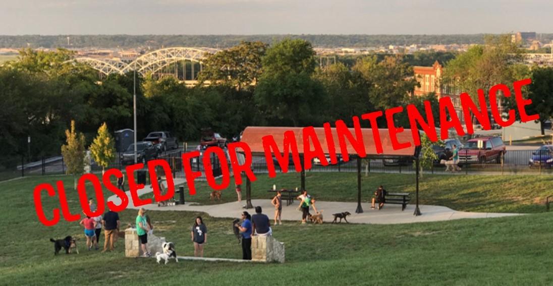 West Terrace Dog Park Closed for Maintenance