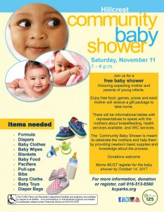 Hillcrest Community Baby Shower