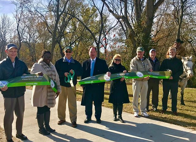 It's official! little Blue Trace Extension opening in #KCParks Little Blue Valley Park  @jacksoncountymo
