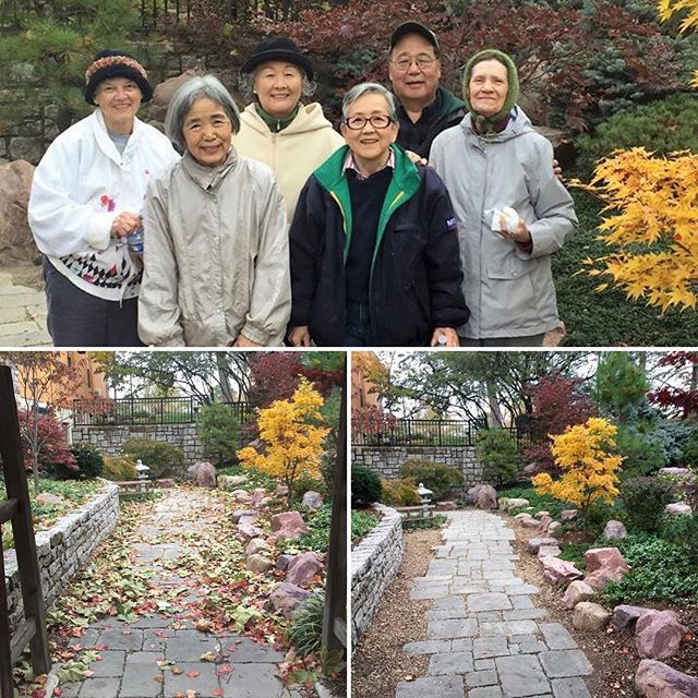 Thank you to members of Heart of America Japan America Society for cleaning up the Japanese Garden in Loose Park. We ️ #KCParks volunteers!