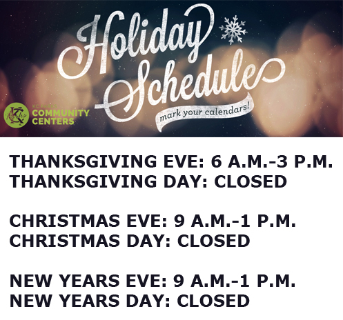 Holiday Hours CC 2017