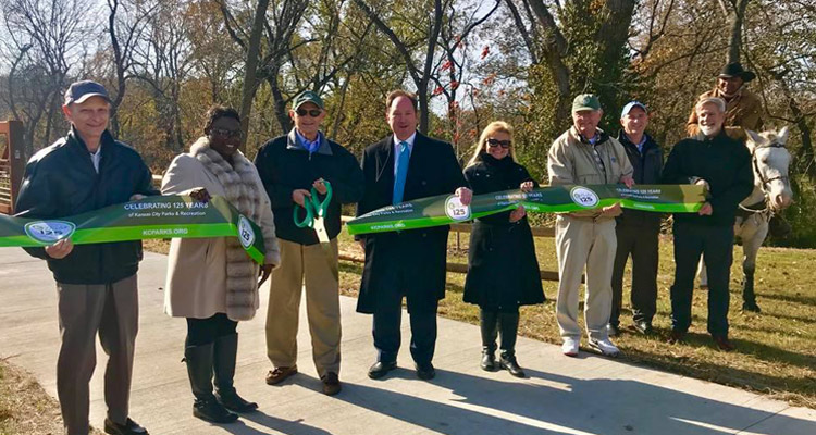 Little Blue Trace Extension Opens in Little Blue Valley Park