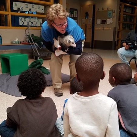 "The YMCA Headstart School at 38th & Troost were recently treated to the ""What is A Tree Program"" and a visit from an opossum (via the Lakeside Nature Center) by Denise Lenox with the #KCParks Conservation Corp!"