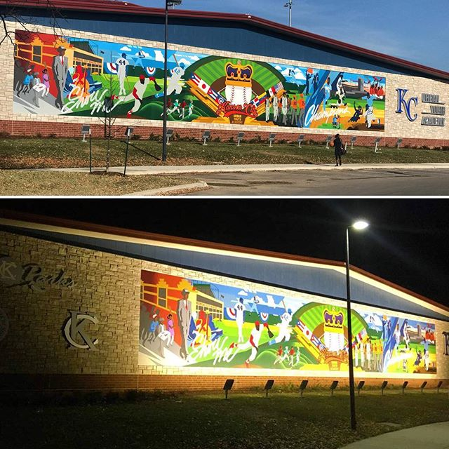 #DayOrNight the mural at KC's Urban Youth Academy in #KCParks Parade Park looks great!!