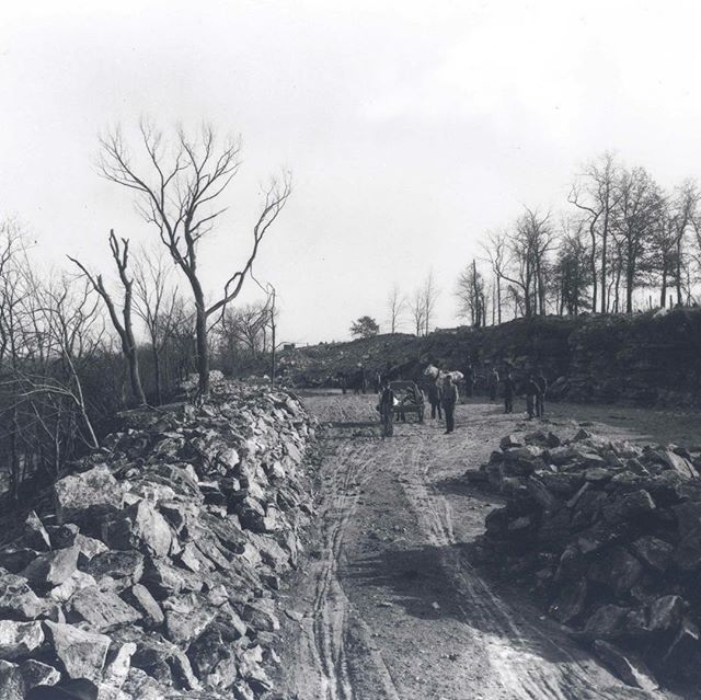 #ThrowbackThursday #TBT circa 1902 Penn Valley Park – Penn Valley Drive construction at 28th Street #KCParks125 #KCParks