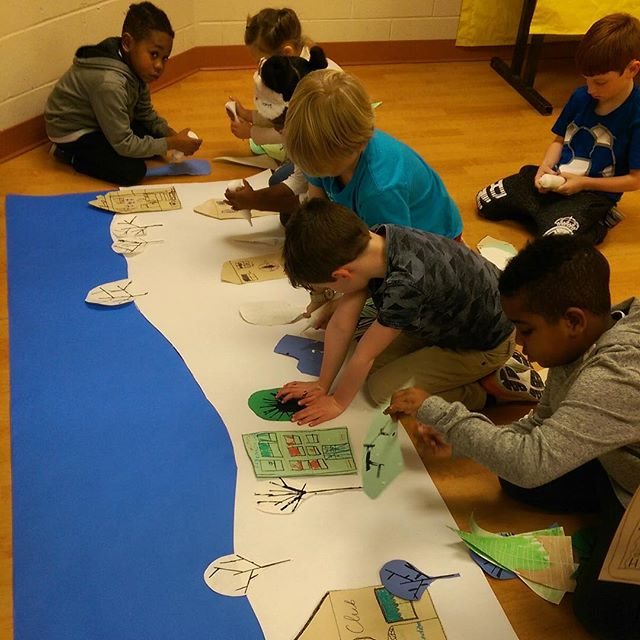 "The kiddos at #KCParks Tony Aguirre Community Center's Winter Camp had a blast working on an art project in conjunction with Westport Center for the Arts and Arts Tech. They created a ""Let It Snow"" landscape."