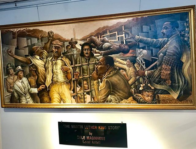 "‪""The Martin Luther King Story"" by local artist Dale Maginness at #KCParks Bruce R Watkins Cultural Heritage Center #MLKDay #MLKDay2018‬"