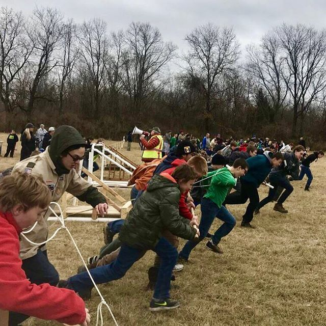 The Golden Eagle Klondike Derby took place on the athletic fields in #KCParks Hodge Park this past weekend. #BoyScouts #Klondike