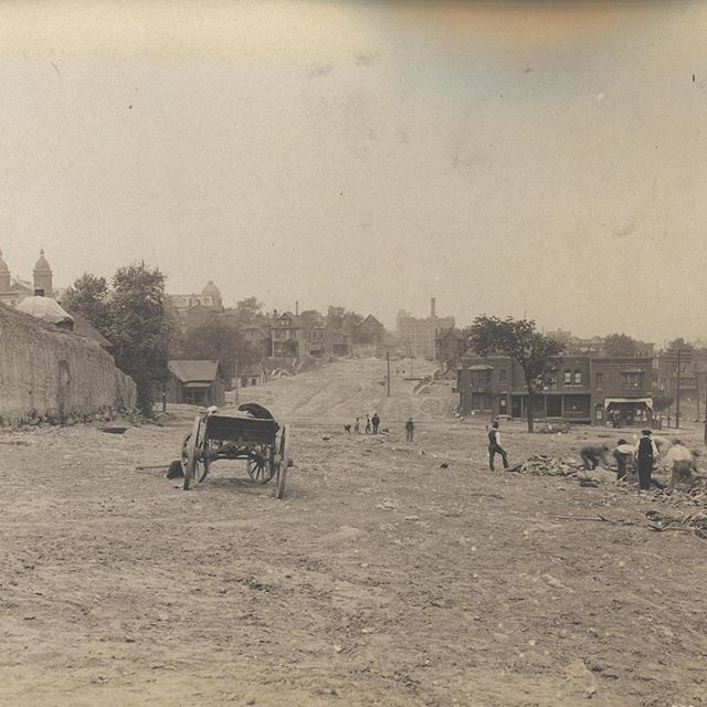 #ThrowbackThursday Admiral Boulevard looking west from Campbell circa 1906 #TBT #KCParks