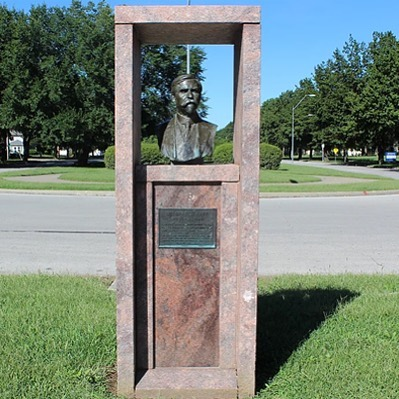 Our #WTW picture is of the Delbert J. Haff Memorial located at the entrance to #KCParks Swope Park and adjacent to the Delbert J. Haff Memorial Fountain which is currently being repaired with voter-approved #GOkc bond funds.