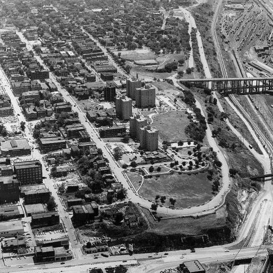 {Throwback Thursday} Quality Hill and West Terrace Park circa 1956. #TBT #KCParks #ThrowbackThursday