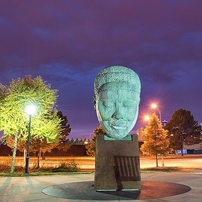 "Charlie Parker Memorial – ""Bird Lives"" at 18th & Vine #KCParks #BlackHistoryMonth"