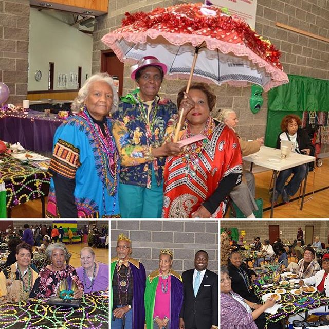 Laissez les bons temps rouler!! The good times were rolling today at the #MardiGras luncheon at #KCParks Gregg/Klice Community Center. #ActiveAgers