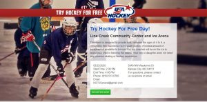 Free Hockey at Line Creek Community Center and Ice Arena