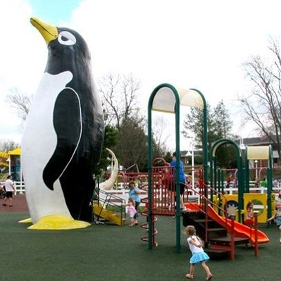 PENGUIN PARK CONSTRUCTION ALERT: Beginning March 12, 2018 the red play area will be fenced off to begin removing the old play equipment.  Once the red play area is complete, the blue play area will be fenced off to begin work there.  The anticipated completion date for both areas is early June. #KCParks #WhereKCPlays